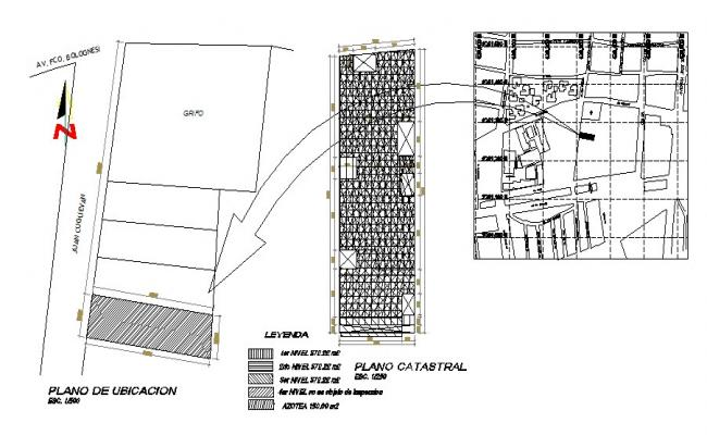 Location map and site plan details of house colony dwg file