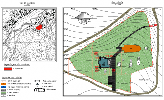 Location plan detail dwg file