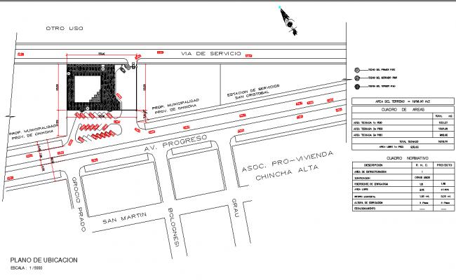Location plan detail layout file