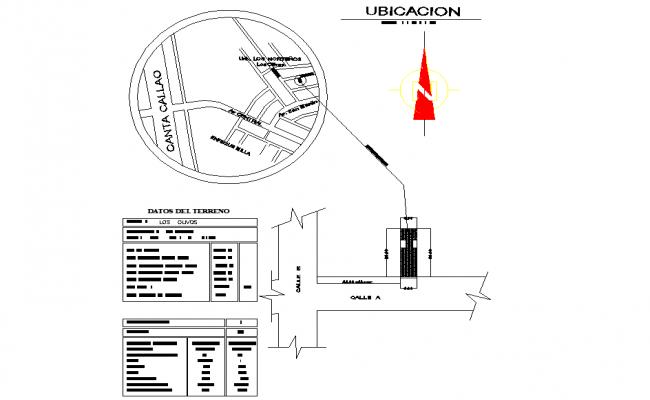 Location site plan autocad file