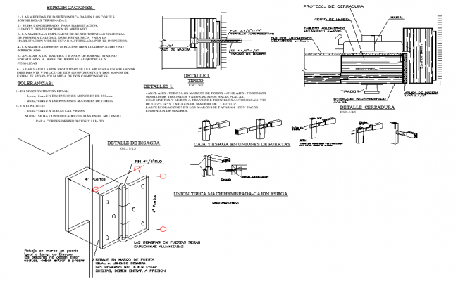 Lock plan and section detail autocad file