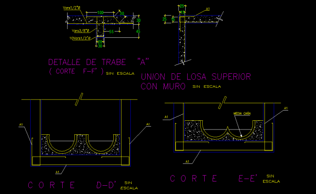 Locomotive section detail dwg file