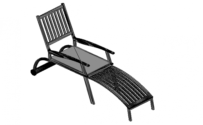 Lounger chair 3d file