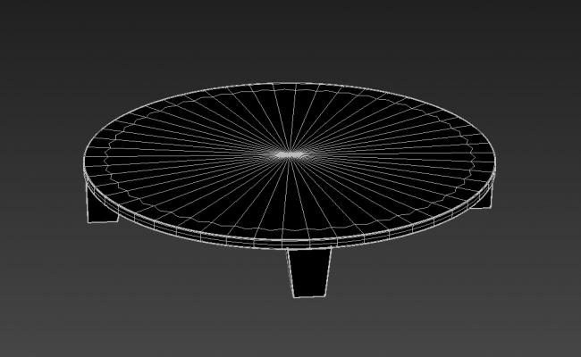 Low Height Round Coffee Table Rendered 3D Max File