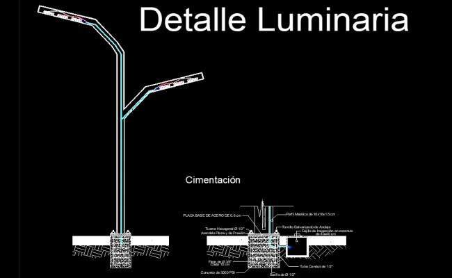 Luminarire detail layout file