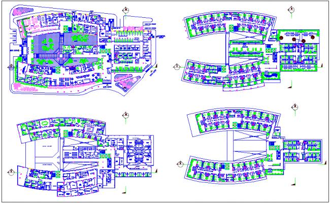 Lung hospital floor plan dwg file