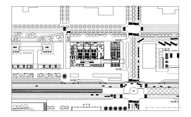 Luxuries hotel distribution plan auto-cad details dwg file