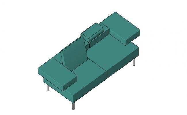 Luxuries long sofa set 3d block cad drawing details skp file