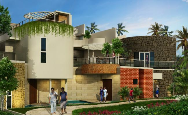 Luxuries villa type resort building 3d model cad drawing details skp file