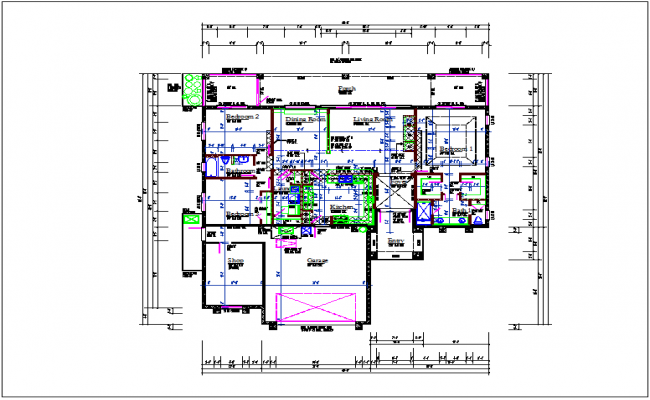 Luxurious  plan layout view detail dwg file