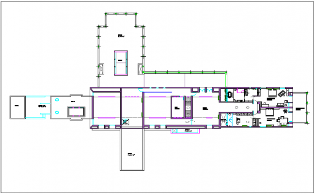 Luxurious  residential housing plan detail dwg file