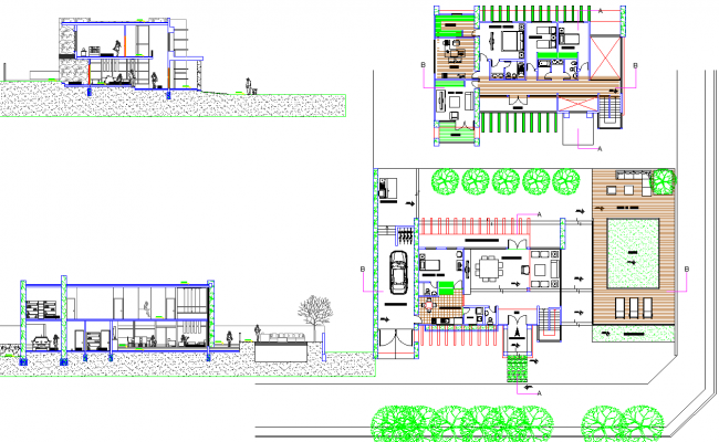 Luxurious Residence project dwg file