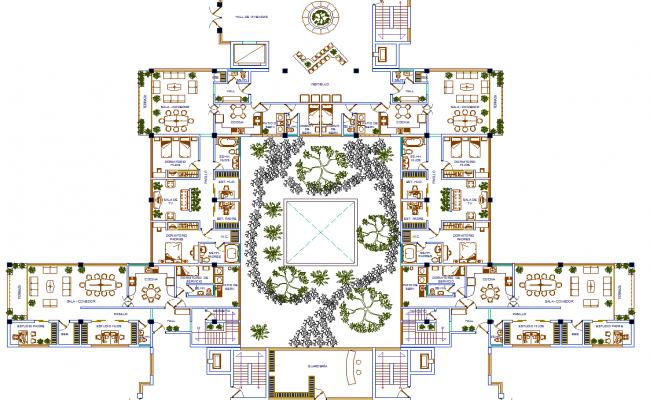 Luxurious residence Apartment Layout plan