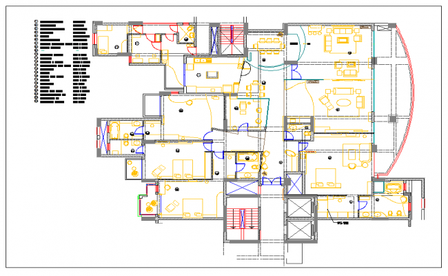 Luxurious Residential Housing Plan And Design Layout Of Interior Dwg File