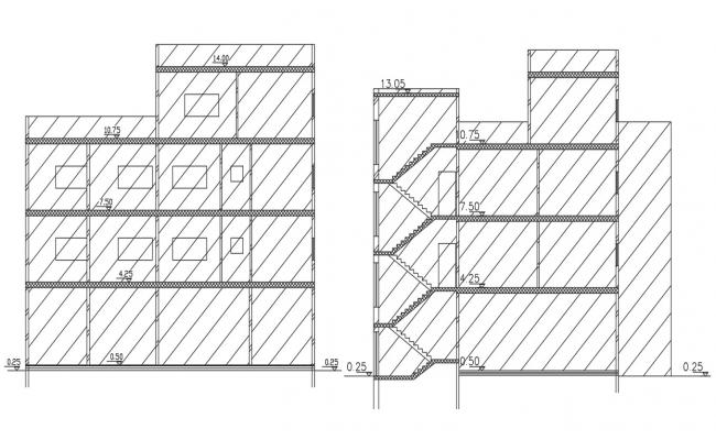 Luxurious Apartment Building Section CAD Drawing