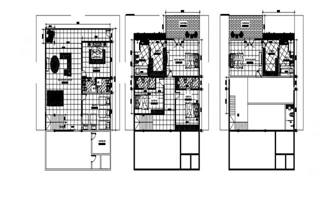 Luxury Bungalow Design In DWG File