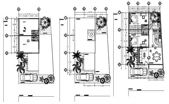 Luxury Bungalow House Plans With Furniture Layout AutoCAD File Free