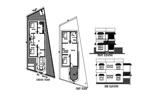 Luxury House Design In AutoCAD File
