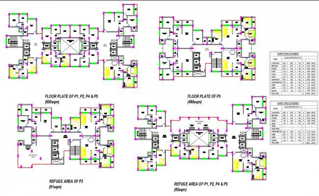 High Rise Building Plan In AutoCAD File