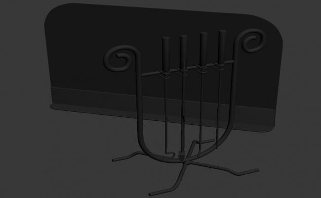 MS Candle Stand 3D MAX File Free