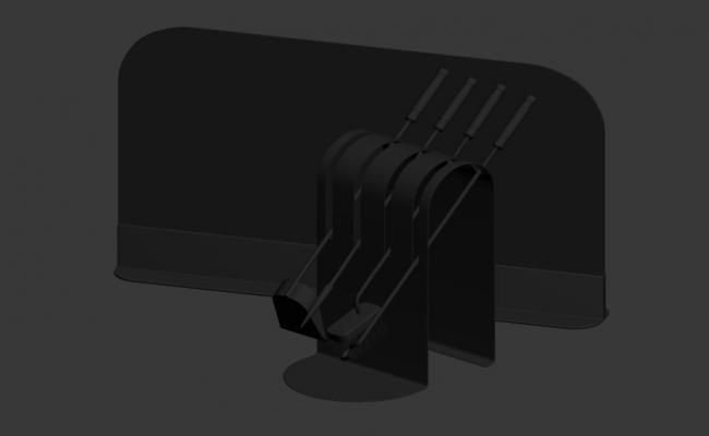MS Tool Stand In 3D MAX File Free