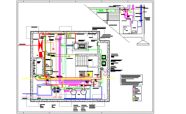 Machine Room lay-out DWG File