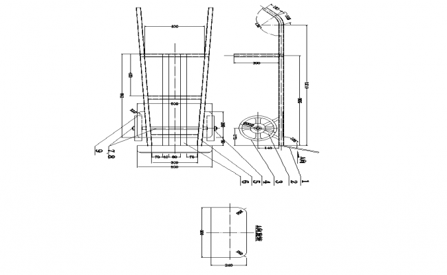 Machinery CAD structure detail elevation layout 2d view autocad file