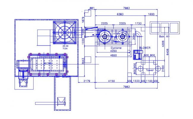 Machinery Room Design CAD Drawing Plan Download