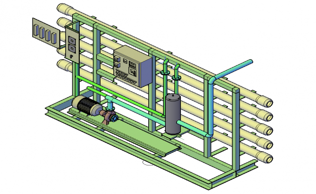 Machinery system 3d  dwg file