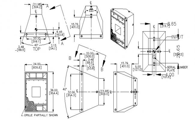 Machinery unit Autocad block