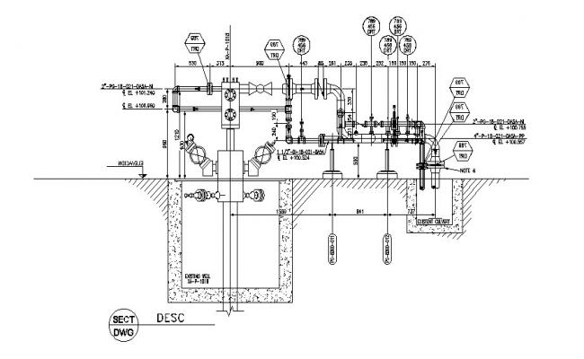 Macolla production plant cad drawing details dwg file