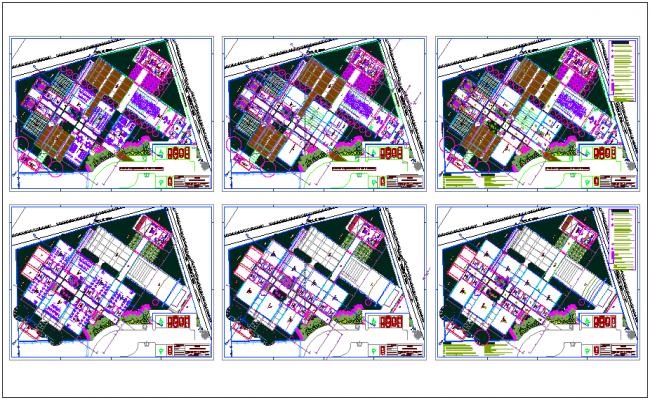 Madrid school floor plan dwg file