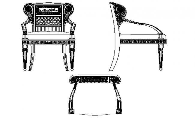 Maharaja chair elevation details