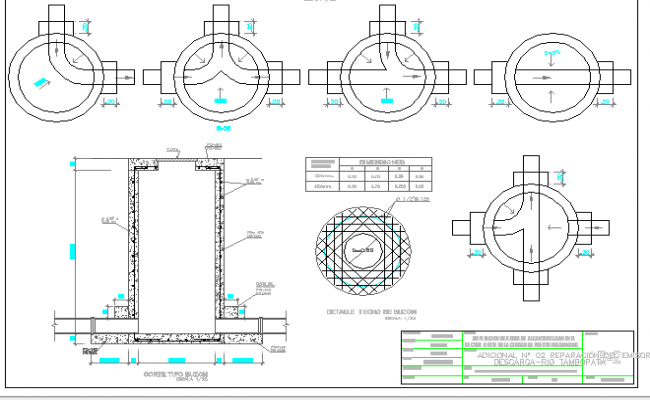 Mailbox architecture design and details dwg file