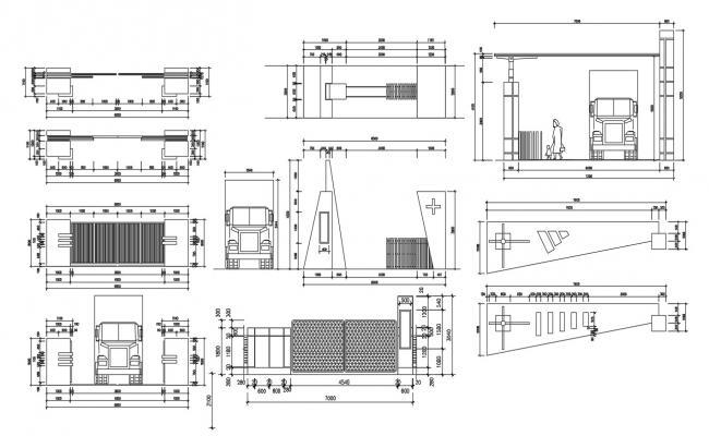 Main Gate Design AutoCAD File