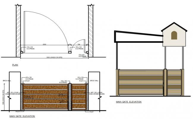 Main Gate Elevation CAD Drawing