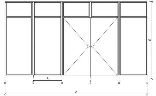 Main door design in dwg file