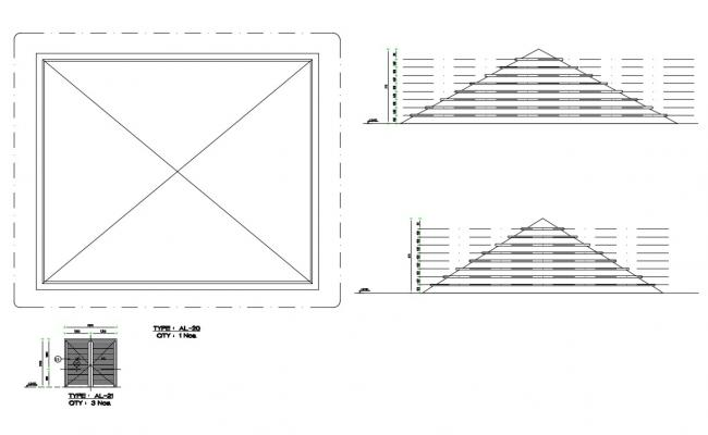Main gate and door installation cad drawing details dwg file