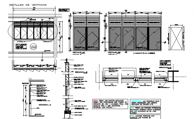 Main gate and door plan and elevation detail dwg file