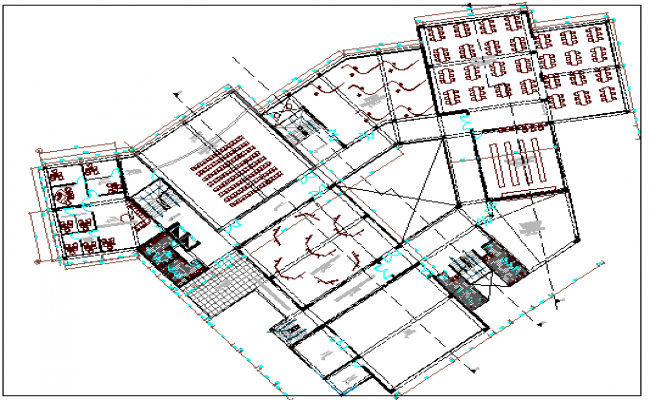 Mall Architecture Design and Structure Details dwg file