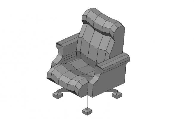 Office Chair 3d Model In DWG File