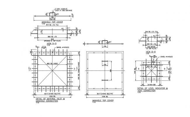 Manhole Design CAD Free File Download