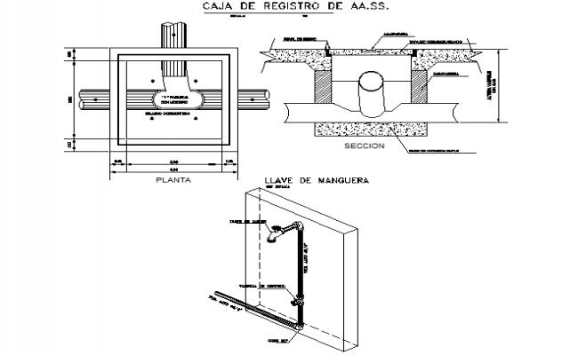 Manhole pipe detail dwg file