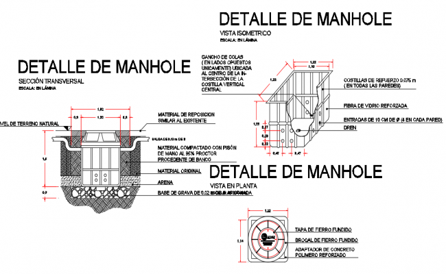 Manhole type registration