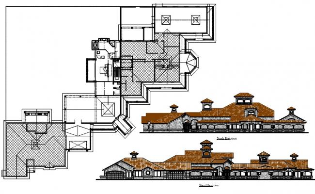 Mansion House Plan AutoCAD File