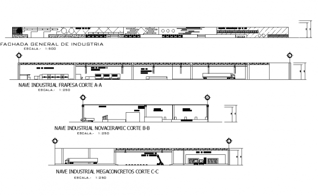 Manufacturing plant section plan detail