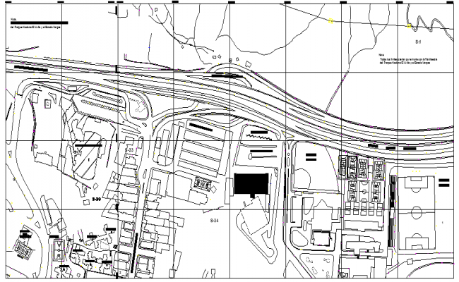 map details of road layout plan dwg file