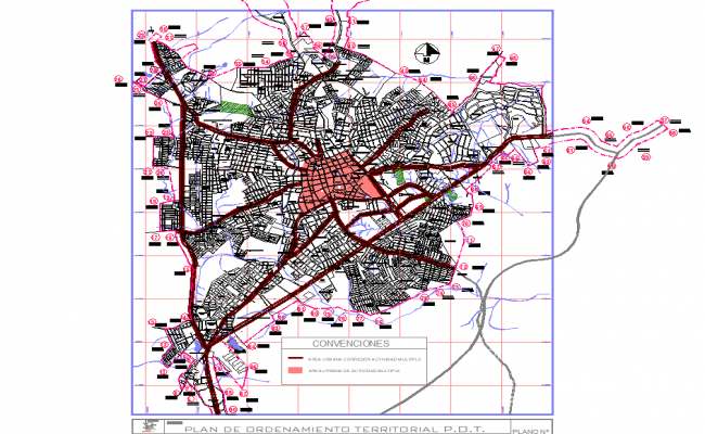 Map plan detail autocad file