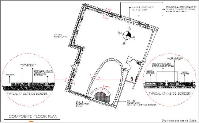Marble finishes construction details of floor dwg file