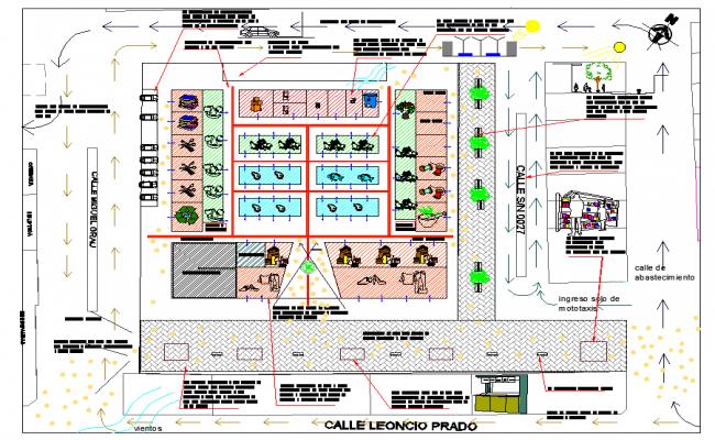 Marketer modelling plan detail autocad file